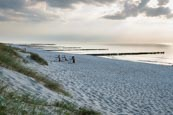 Thumbnail image of Beach and sea with groynes at Ahrenshoop, Mecklenburg-Vorpommern, Germany