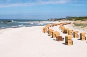 Thumbnail image of Wustrow Beach with beach chairs, Mecklenburg-Vorpommern, Germany