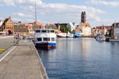 Thumbnail image of Harbour Alter Hafen with the Wassertor Gate in the background, Wismar, Mecklenburg-Vorpommern, Germa