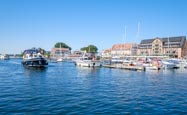 Harbour With The Town Behind, Waren, Mecklenburg-Vorpommern, Germany