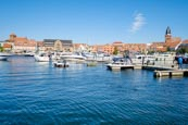 Thumbnail image of Harbour with the Town behind, Waren, Mecklenburg-Vorpommern, Germany