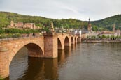 Alte Brucke, Castle And River Neckar, Heidelberg, Baden-Württemberg, Germany