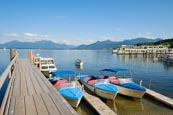Harbour On The Chiemsee Lake, Prien Stock, Upper Bavaria, Bavaria, Germany, Europe