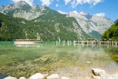 A Tourist Boat Approaching The Salet Landing Stage On The Lake Königssee, Upper Bavaria, Bavaria, Ge