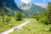 Hikers On The Footpath Between The Königssee And Obersee Lakes, Upper Bavaria, Bavaria, Germany, Eur