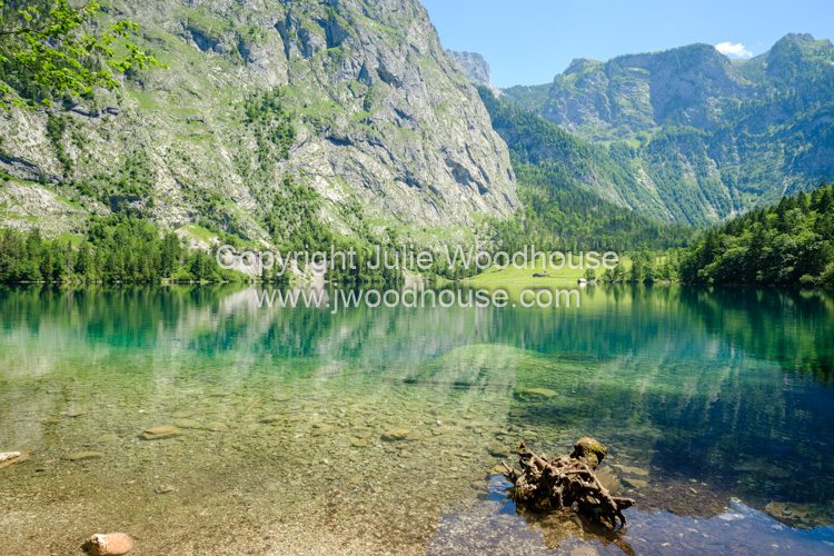 photo showing Lake Obersee, Upper Bavaria, Bavaria, Germany, Europe