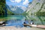 Lake Obersee, Upper Bavaria, Bavaria, Germany, Europe