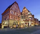 Thumbnail image of typical medieval buildings with George's Spring, Rothenburg ob der Tauber, Franconia, Bavaria, Germa