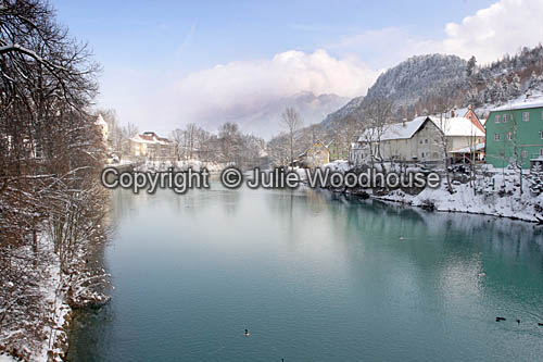 photo showing Fuessen River Lech, Bavaria, Germany