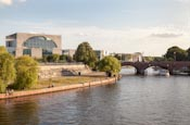 Thumbnail image of River Spree with Moltke Bridge and Bundeskanzleramt, Berlin, Germany