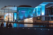 Marie Elisabeth Luders Haus With Light Show, Berlin, Germany