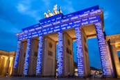 Brandenburg Gate At The Festival Of Lights In Berlin, Germany, 2013