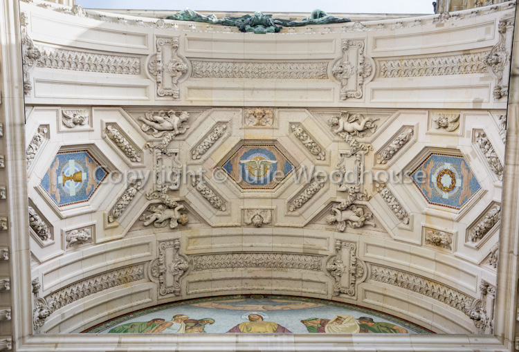 photo showing Berlin Cathedral, Berlin, Germany, Detail Of Ceiling Outside Entrance