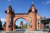 Thumbnail image of Borsig Gate with the Borsig Tower seen through the arch, Tegel, Tegel, Berlin, Germany