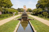 Thumbnail image of Engelbecken with Indian Fountain und Michaelkirche, Luisenstadt Canal, Kreuzberg, Berlin, Germany