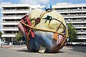 Thumbnail image of Houseball, Bethlehemkirch-Platz, Mauerstrasse, Berlin, Germany - Sculpture by Claes Oldenburg and Co