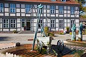 Thumbnail image of Market Place with fountain and sculptures by Christian Uhlig, Angermuende, Brandenburg, Germany