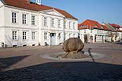 Rathaus And Marktstrasse, Pritzwalk, Brandenburg, Germany