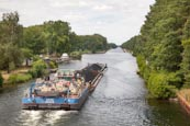 Thumbnail image of Coal being transported by barge on the Oder Havel Canal, Brandenburg, Germany