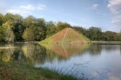 Lake Pyramid In Branitz Park, Tomb Of Fuerst Pückler And His Wife, Cottbus, Brandenburg, Germany