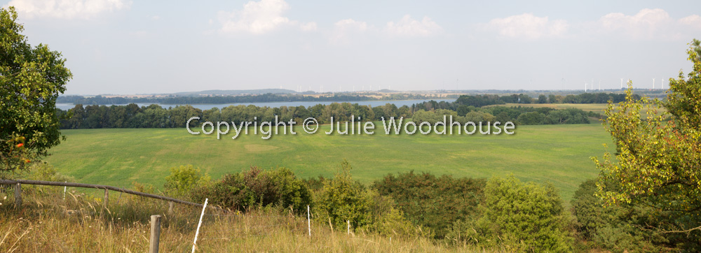 photo showing View From The Kleiner Rummelsberg Over The Parsteiner See, Barnim / Uckermark, Brandenburg, Germany