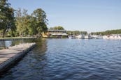 Thumbnail image of Stadtpark and yacht harbour by the Schwedtsee, Fürstenberg Havel, Brandenburg, Germany