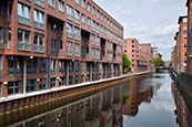 Thumbnail image of Herrengraben with renovated canalside buildings, Hamburg, Germany