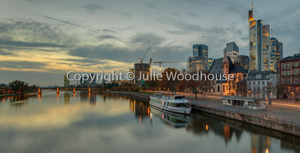 photo showing River Main With Skyline, Frankfurt Am Main, Hessen, Germany