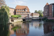 Thumbnail image of Harbour with Hotel Bergstrom, Luneburg, Lower Saxony, Germany