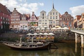 Thumbnail image of Harbour with River Ilmenau and Am Stintmarkt, Luneburg, Lower Saxony, Germany