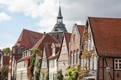Thumbnail image of typical street in the old town, Auf dem Meer, Luneburg, Lower Saxony, Germany