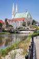 St Peter And Paul Church, Waidhaus And The Altstadt Bridge, Goerlitz, Saxony, Germany