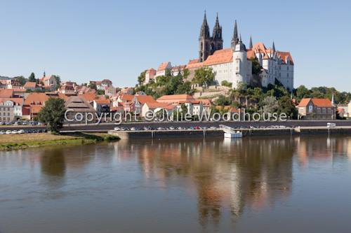 photo showing View Of The Altstadt With River Elbe, Meissen, Saxony, Germany