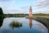 Thumbnail image of Niederer Grossteich lake and lighthouse, Moritzburg, Saxony, Germany