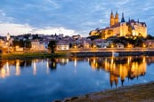 View Over The Altstadt With The Albrechtsburg And River Elbe, Meissen, Saxony, Germany