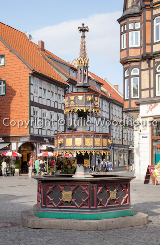 photo showing Benefactors Fountain, Marktplatz, Wernigerode, Saxony Anhalt, Germany