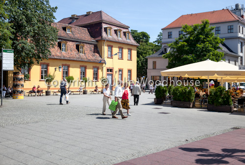 photo showing Theater Platz With Wittumspalais, Weimar, Thuringia, Germany
