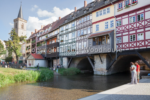 photo showing Merchants Bridge, Erfurt, Thuringia, Germany