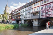 Merchants Bridge, Erfurt, Thuringia, Germany