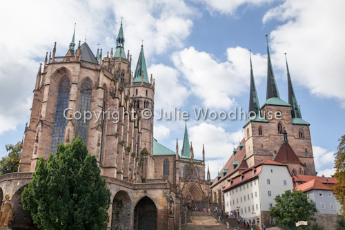 photo showing Cathedral And Church Of St. Severus, Erfurt, Thuringia, Germany