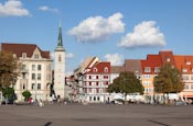 Domplatz With Allerheiligenkirche, Erfurt, Thuringia, Germany