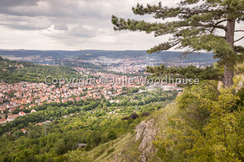 photo showing View From Jenzig Hill Over Jena, Thuringia, Germany