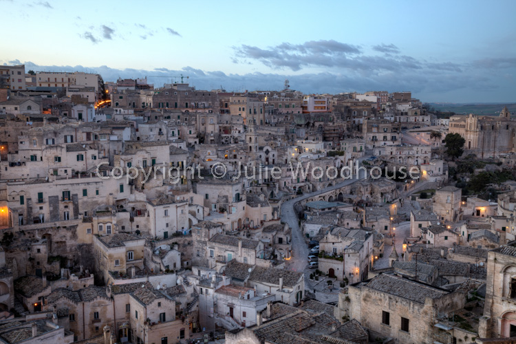 photo showing View Over Sasso Barisano From Piazza Duomo, Matera, Basilicata, Italy