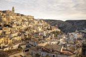 View Over The City From Viewpoint At Piazzetta Pascoli, Matera, Basilicata, Italy