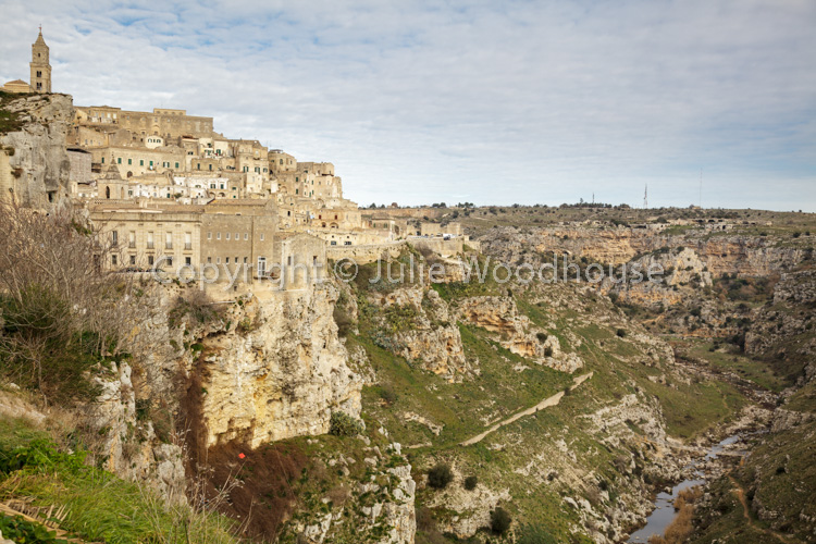 photo showing View Over The Town And Torrente Gravina, Matera, Basilicata, Italy