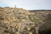 View Over The Town And Torrente Gravina, Matera, Basilicata, Italy
