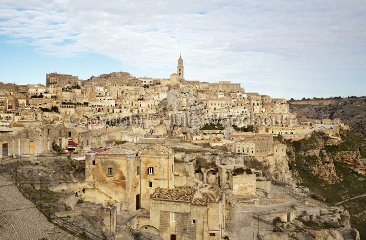 photo showing View Over The Town, Matera, Basilicata, Italy