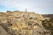 View Over The Town, Matera, Basilicata, Italy