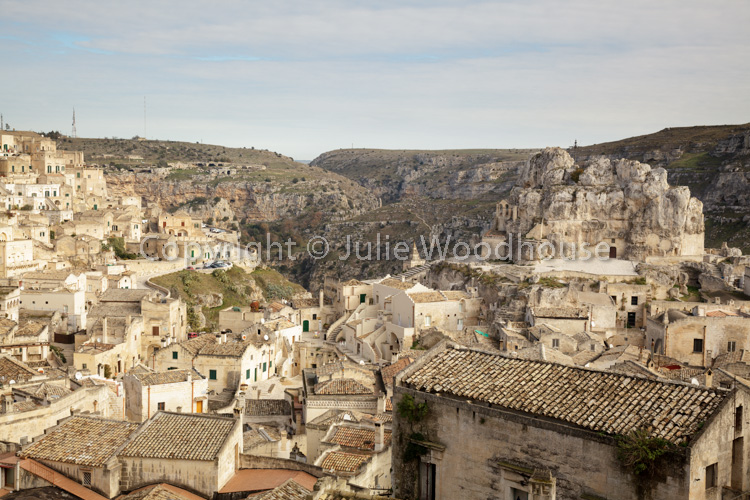 photo showing View Over The Town With Madonna De Idris Church, Matera, Basilicata, Italy