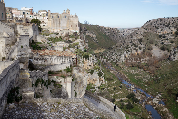 photo showing Torrente Gravina With Town And Convent Of Saint Agostino, Matera, Basilicata, Italy